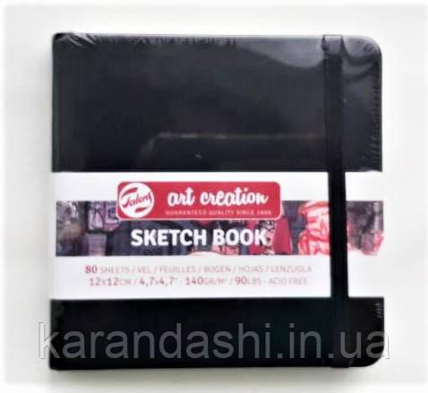 Блокнот для графики Talens Art Creation 12*12см 80л 140г/м черная обложка