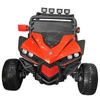 Детский электромобиль джип внедорожник Багги  M 3804EBLR-3 с 4-мя моторами и кожаным сиденьем ***