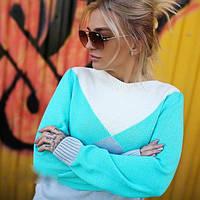 """Яркий вязаный женский свитер """"Италия"""""""
