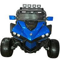 Детский электромобиль джип внедорожник Багги  M 3804EBLR-4 с 4-мя моторами и кожаным сиденьем ***