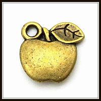 """Метал. подвеска """"яблоко"""" бронза (1,3х1,2 см) 8 шт в уп."""