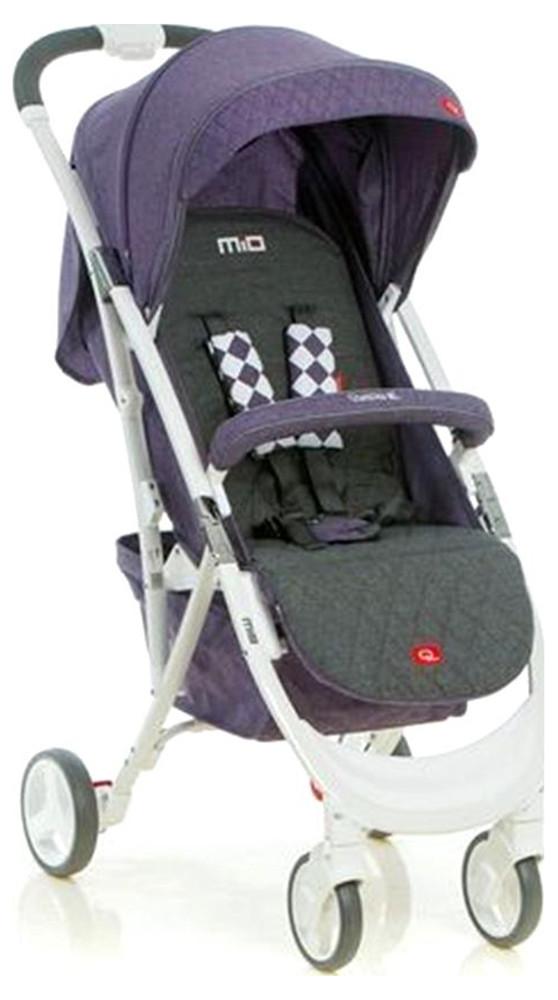Коляска прогулочная Quatro Mio №15 purple (фиолетовый-графит)