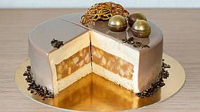 Підложка під торт кругла золота / чорна D 26 см, h 3 мм (75 шт)