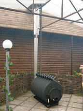Труба-сэндвич для дымоходов (термо) 0,3 метра 1 мм н/оц AISI 321, фото 3