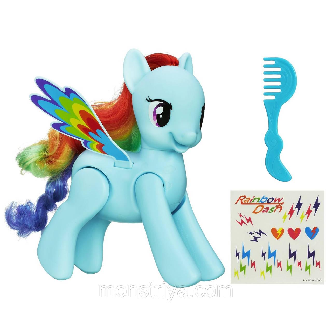 Пони Проворная Рейнбоу Дэш, делает сальто! My Little Pony Flip and Whirl Rainbow Dash Pony Fashion Doll Pet К, фото 1