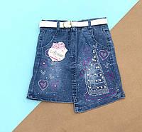 Джинсовая юбка с камушками   5-8 лет