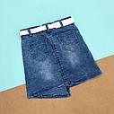 Джинсовая юбка с камушками   5-8 лет, фото 2