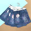 Джинсовая юбка с камушками   5-8 лет, фото 3