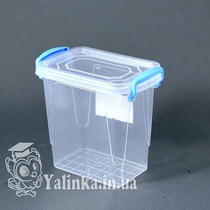 Пищевой контейнер с крышкой 0,7л  А-3, фото 2