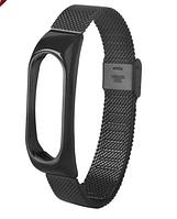 Металлический ремешок для Xiaomi Mi Band 2 Black браслет