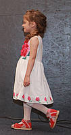 Детское платье для девочек с цветами, р. 98, 128, Белое