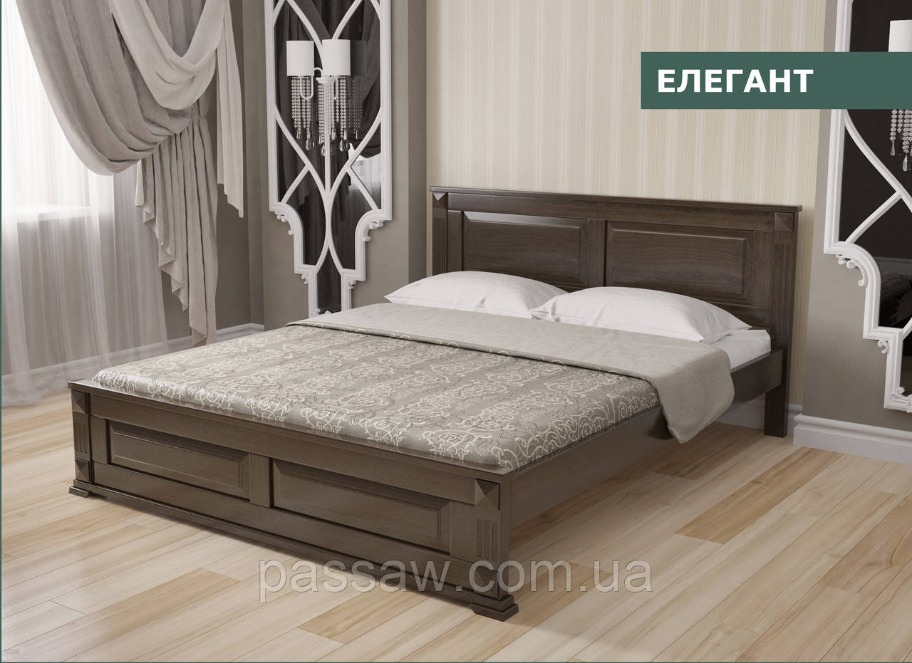 """Кровать деревянная """"Элегант"""" 1,8 сосна"""