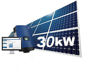 Сонячна електростанція для зеленого тарифа на 30кВт. Інвертор Fronius панелі JinkoSolar