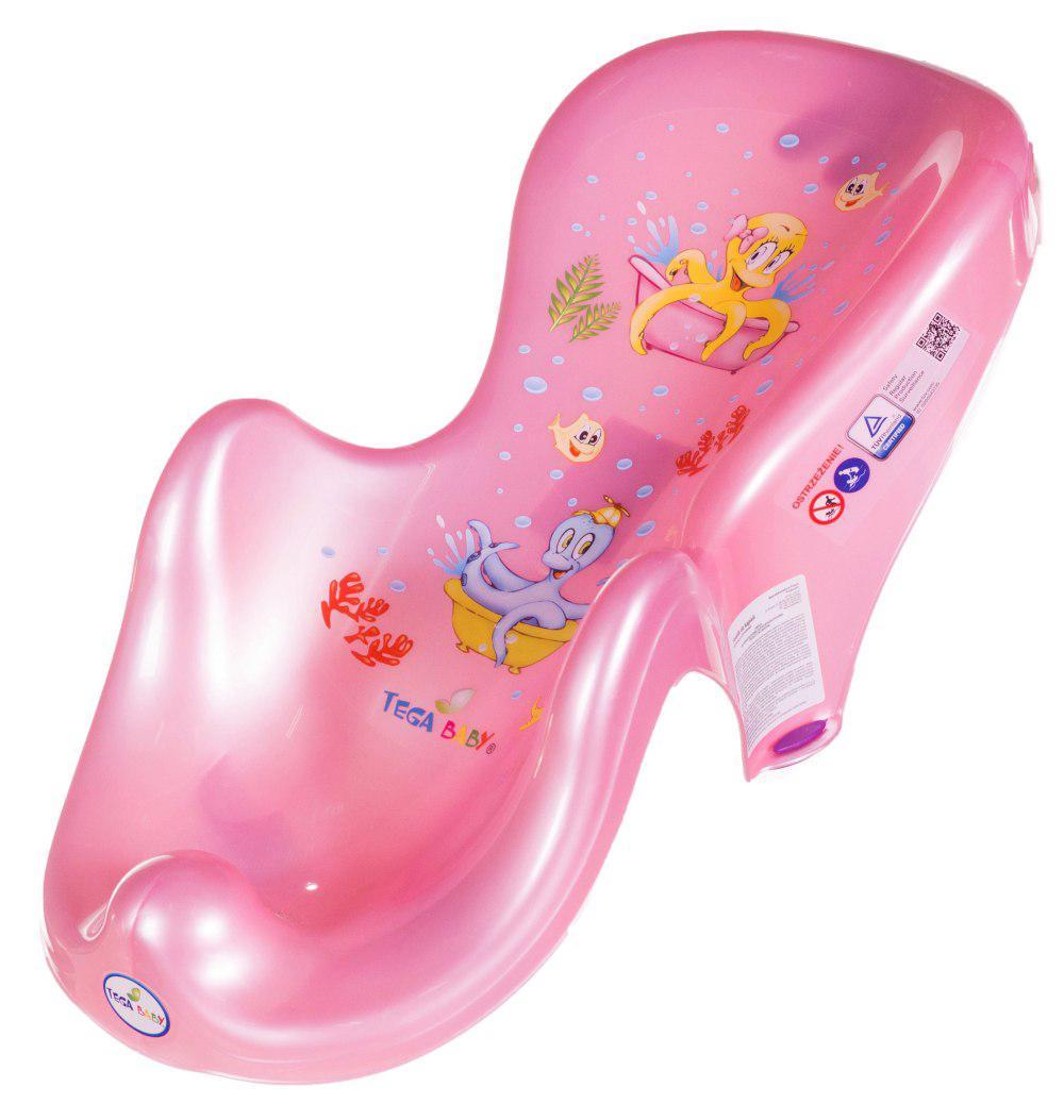 Горка для купания Tega Octopus OS-003 нескользящая  pink