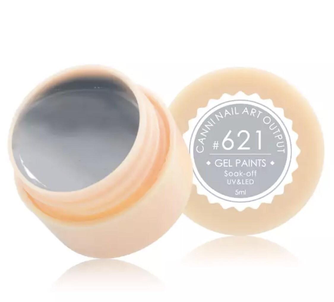 Гель-краска CANNI 621 (серый), 5 мл