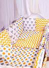 Детская постель Babyroom Bortiki lux-08 fox оранжевый - серый, фото 6
