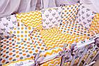 Детская постель Babyroom Bortiki lux-08 fox оранжевый - серый, фото 7