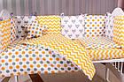 Детская постель Babyroom Bortiki lux-08 fox оранжевый - серый, фото 8