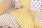 Детская постель Babyroom Bortiki lux-08 fox оранжевый - серый, фото 9