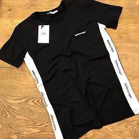 Мужская футболка Balenciaga с белыми вставками по бокам Качество люкс Модель 2018 Турция sml xl xxl