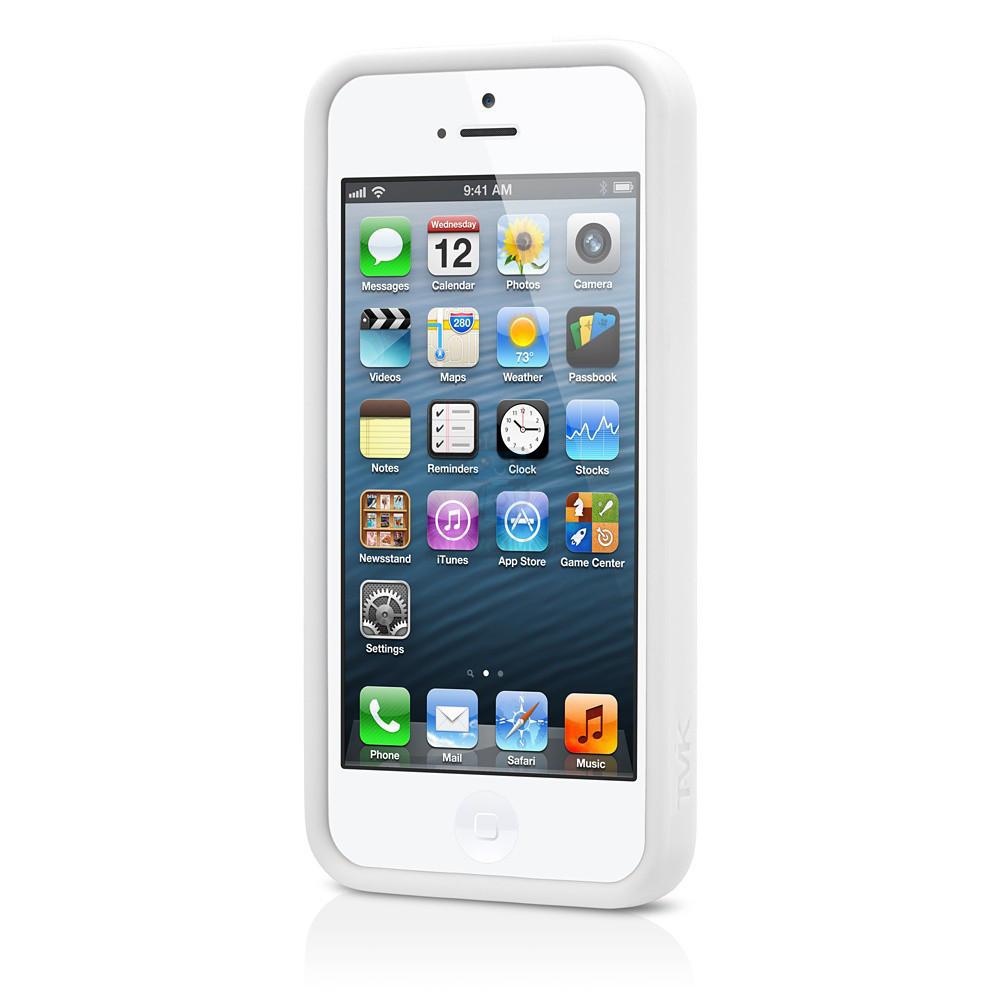 Бампер Tavik OUTER EDGE для iPhone 5, 5S - белый (TVK-IPH-039-WHT/WHT)