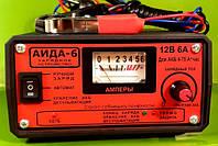 Зарядное АИДА-6 — автомат + ручной заряд + десульфатация для 12В АКБ 4-75 А*час, режим хранения