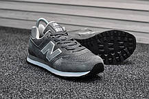 Мужские серые кроссовки New Balance 574 (реплика), фото 3