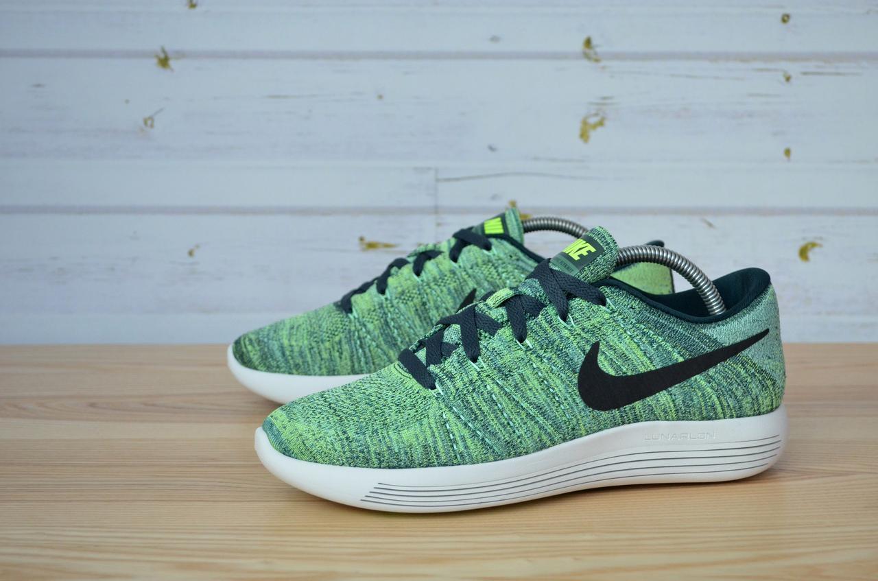 c6b5de1bd7f2e Мужские летние кроссовки Nike LunarEpic Low Flyknit Running Seaweed Green 843764  300 оригинал