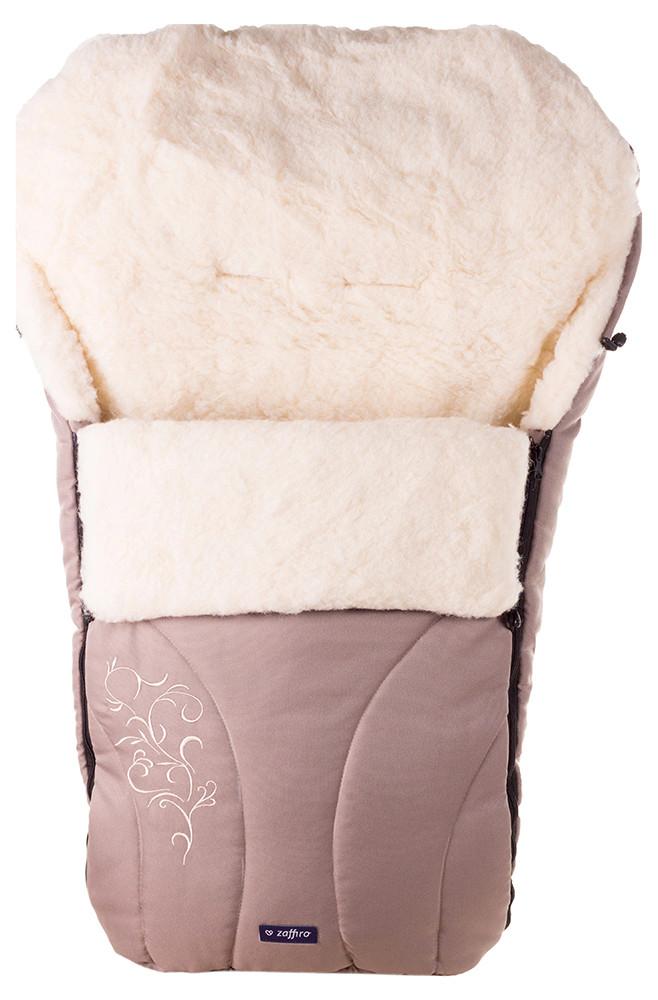 Зимний конверт Womar (Zaffiro) №25 с вышивкой  капучино