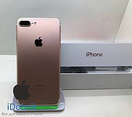 Телефон Apple iPhone 7 Plus 128  Rose Gold  Neverlock  10/10