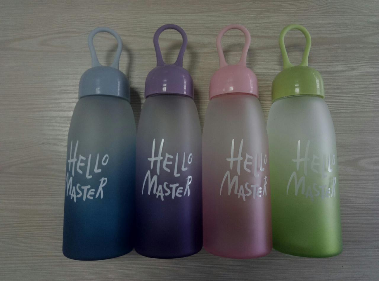 Бутылка для воды Hello Master (Стекло), фото 1