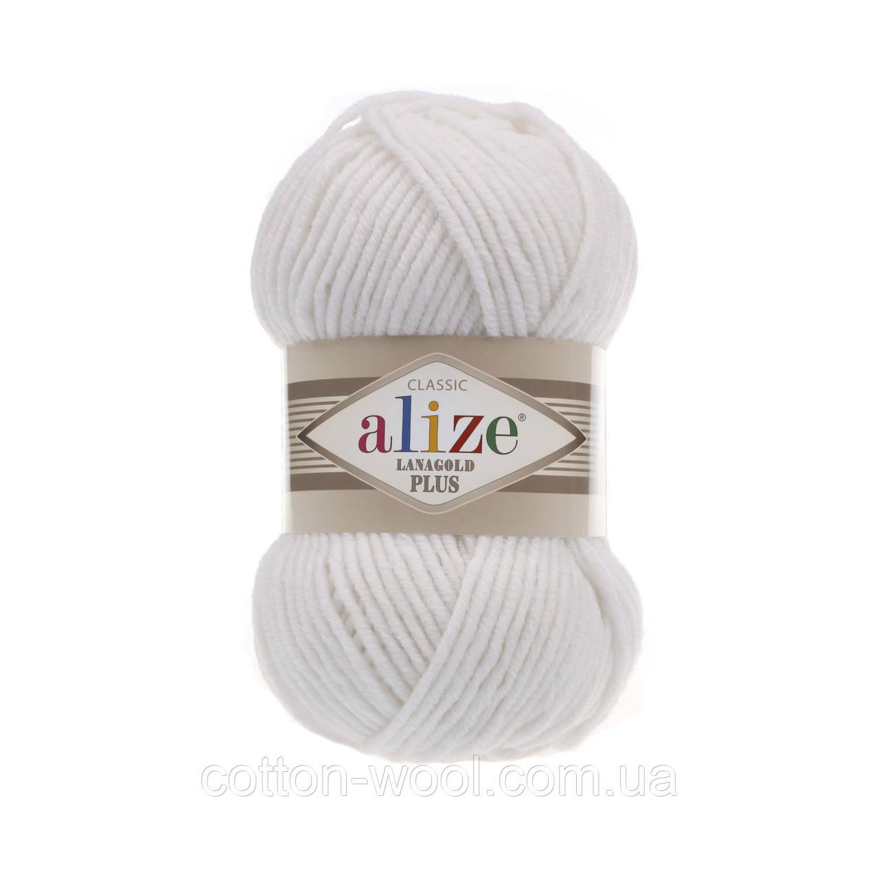 Alize Lanagold Plus (Ализе Ланаголд плюс)  55 белый