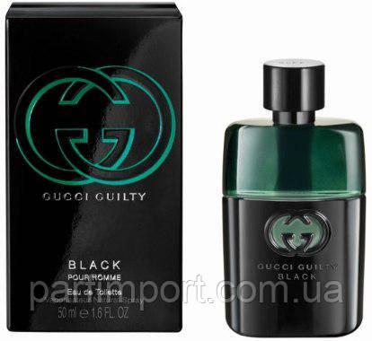Gucci Guilty Black Men EDT 50 ml туалетна вода чоловіча (оригінал оригінал Італія)