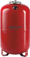 Расширительный бак Aquasystem VRV 80 (вертикальный красный с ножками)