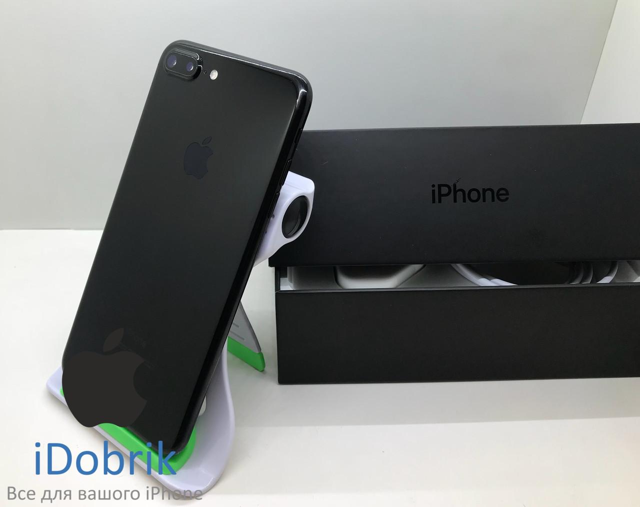 Б/У iPhone 7 Plus 256gb Jet Black Neverlock 10/10