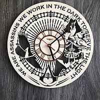 Тематические интерьерные настенные часы «Кредо убийцы» , фото 1