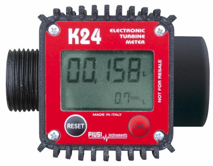 Электронный счетчик К24 для дизельного топлива, бензина, масла, 7-120 л