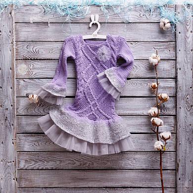 Платье-пачка ручной работы, фиолет