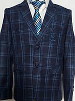 Синий пиджак в клетку для мальчиков Zenmoni