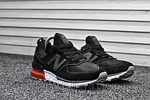 Мужские кроссовки New Balance 574 Sport Edition Black / Red (реплика), фото 3