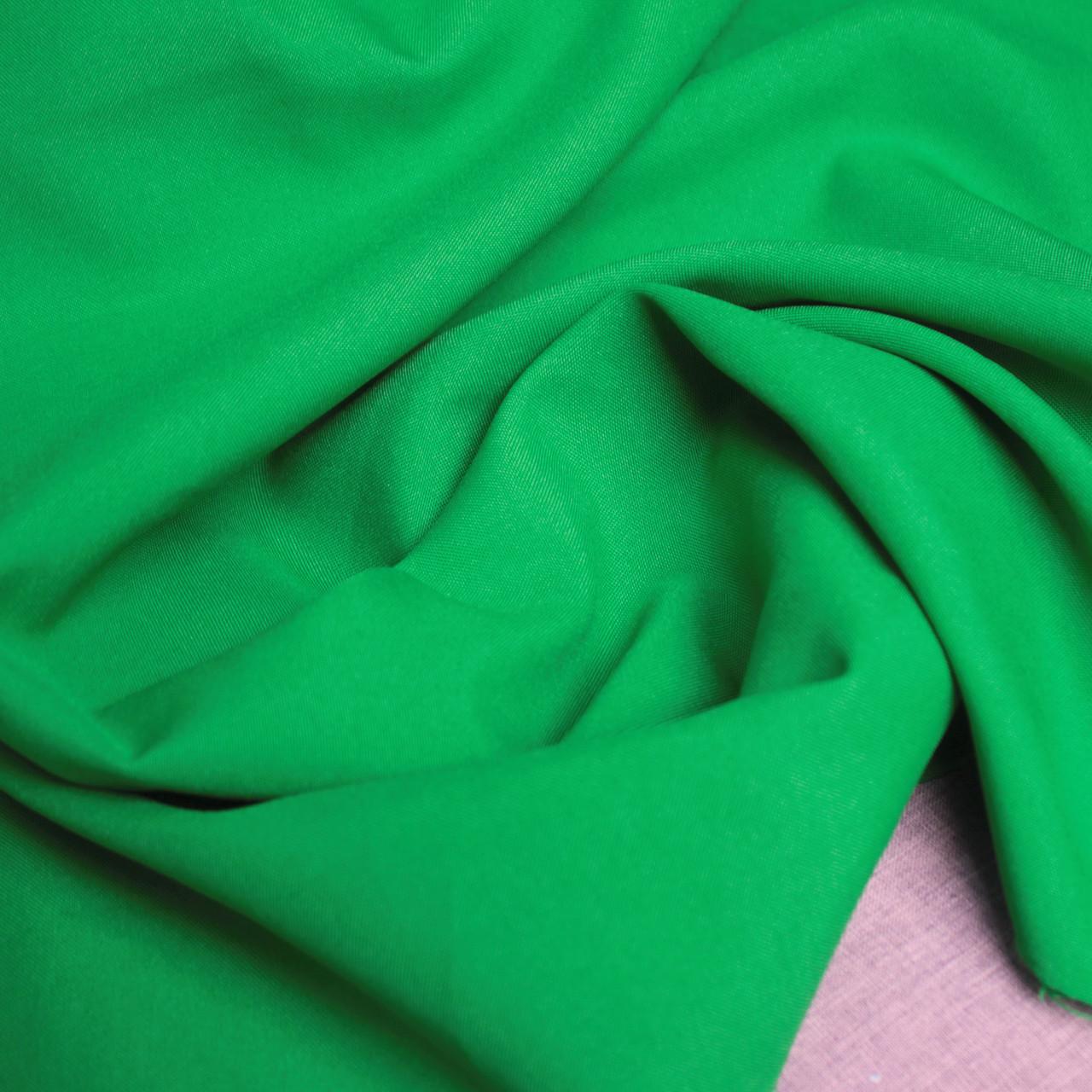 Ткань габардин зеленый