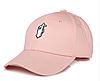 """Бейсболка с принтом """"Руки"""" розовая"""