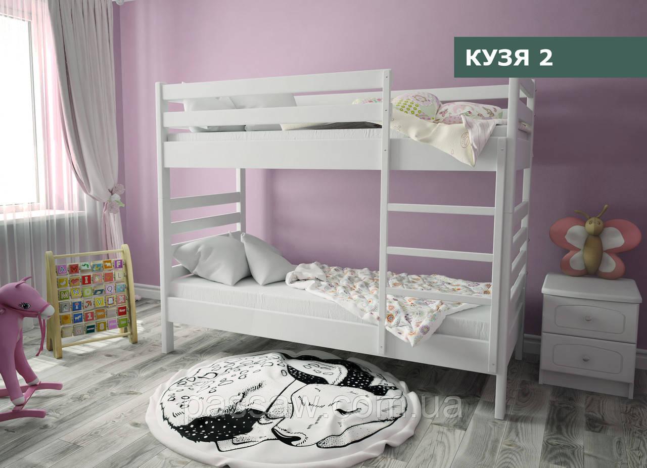 """Кровать деревянная  двухъярусная """"Кузя-2"""" 0,8  ольха"""