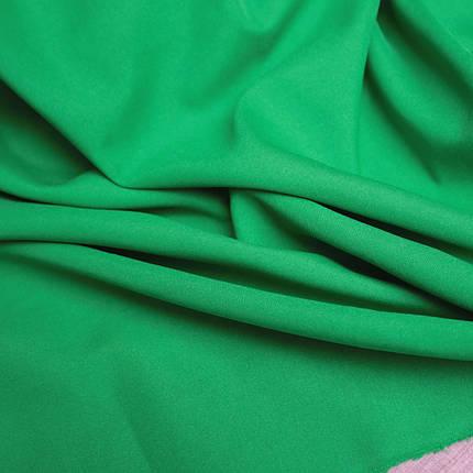 Костюмная ткань габардин зеленый трава, фото 2