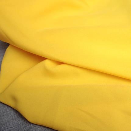 Костюмная ткань габардин желтый, фото 2