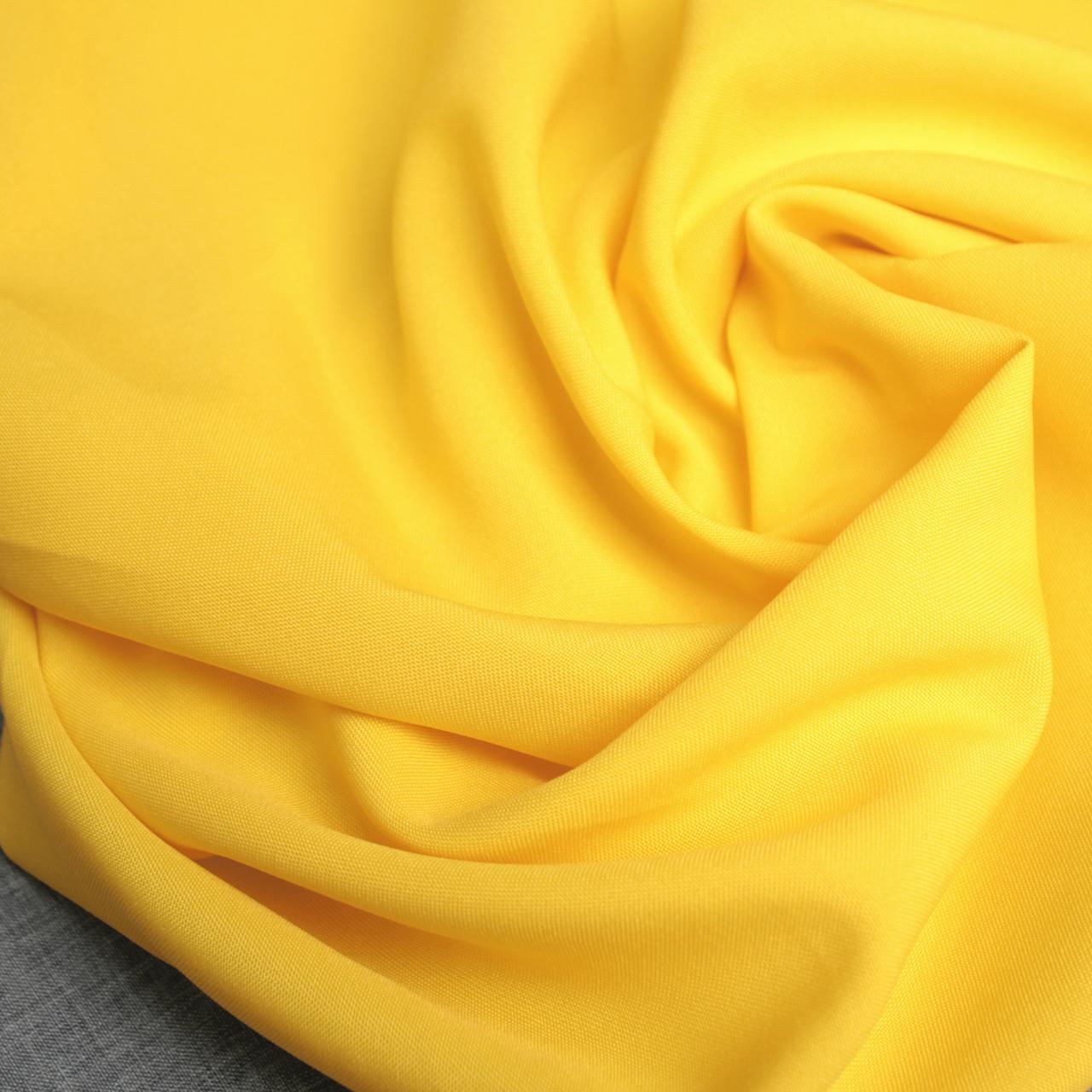 Костюмная ткань габардин желтый