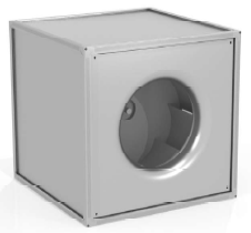 Вентилятор канальный радиальный квадратный ССК ТМ KP-KVARK-N-100-100