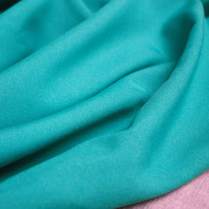Костюмная ткань габардин голубая бирюза, фото 2