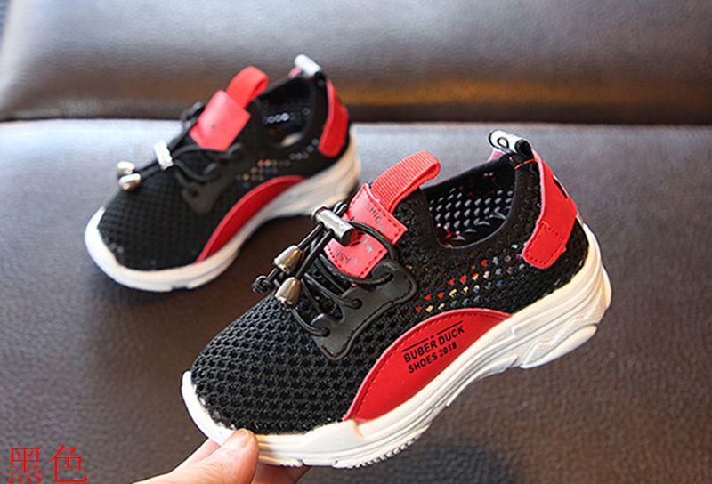 Летние кроссовки черные с красным с сеткой для мальчика