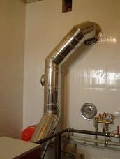 Колено 45 для дымохода (термо) 1 мм н/оц AISI 321, фото 2